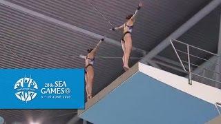 Video Aquatics Diving Synchronised Platform Finals (Women) Day 2 | 28th SEA Games Singapore 2015 MP3, 3GP, MP4, WEBM, AVI, FLV Juli 2018