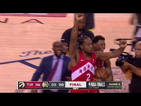 Final Seconds Of 2019 NBA Finals Game 6 | Toronto Celebration | Raptors Vs Warriors