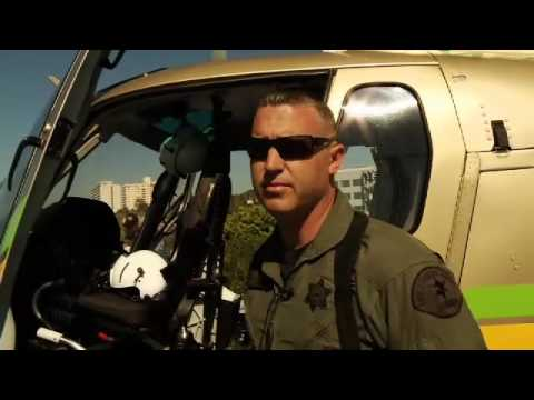 Sheriff's Helicopter Visits West Hollywood