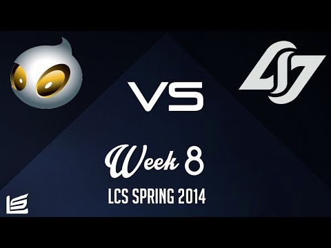 NA LCS 2014 Spring W8D1: Dignitas vs Counter Logic Gaming Highlights