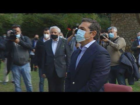 Ο Αλ. Τσίπρας κατέθεσε στεφάνι στον ιστορικό χώρο των βασανιστηρίων του ΕΑΤ-ΕΣΑ