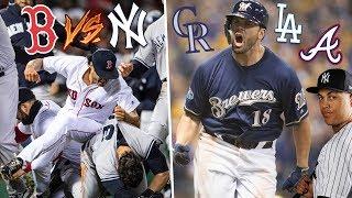 RED SOX vs YANKEES! Brewers vs Rockies, Dodgers Win! 2018 MLB Playoff Predictions & Recap