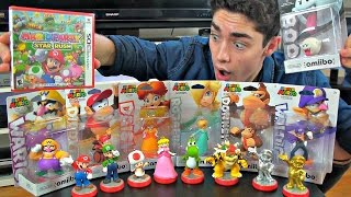 Unboxing ALL 7 New Super Mario Amiibo & Mario Party Star Rush!