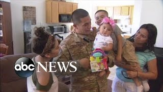 Army Sgt. Eddie Martinez shocked his family by coming home from his second deployment in Iraq.