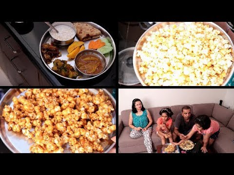 SUNDAY Full Day VLOG | Indian Breakfast Routine | Lunch Preparation | Cheese and Caramel Popcorn