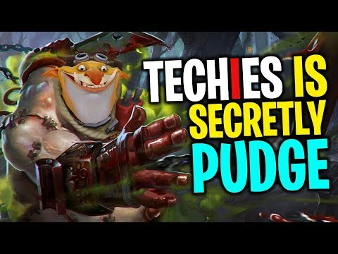 Techies is Secretly Pudge - DotA 2 Funny Moments