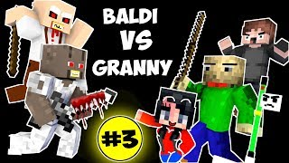Video Monster School : BALDI'S BASICS VS GRANNY CHALLENGE PART 3 - Minecraft Animation Kids Mobs MP3, 3GP, MP4, WEBM, AVI, FLV Juli 2018