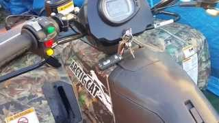 5. Arctic Cat 500XT ATV Quad Oil Change - Step by Step.