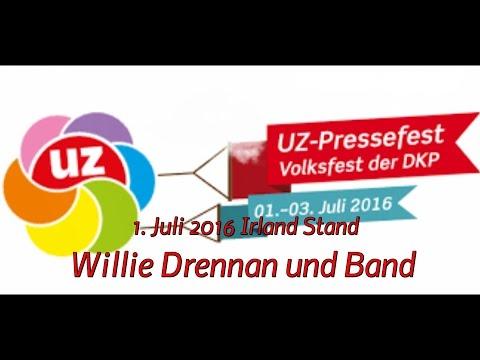 Willie Drennan und Band auf dem UZ-Pressefest, 1. Juli 2016