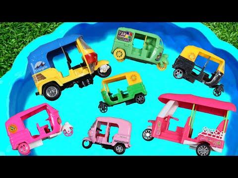 Street Vehicles Names | Toy Auto Rickshaw | Transportation Toy Videos