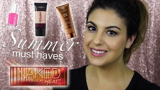 Don't forget to subscribe here: https://www.youtube.com/subscription_center?add_user=amandamariabeauty06HAPPY FRIDAY! AND Happy July! I hope Summer is treating you well so far! I decided to compile all my summer beauty must haves and chat about them with you all! I hope you enjoy this video! These are truly products I cannot live without throughout the summer months! ►For Business Inquiries: amandamaria.speroni@gmail.com►Come say hi!!♡ INSTAGRAM ♡ https://instagram.com/amandasperoni/♡ TWITTER ♡ https://twitter.com/amandasperoni♡ FACEBOOK ♡ https://www.facebook.com/AmandaSperoniYT/♡ BLOG ♡ https://www.amanda-speroni.blogspot.ca♡ SNAPCHAT ♡ AmandaSperoniYT►Products mentioned:Maybelline dream fresh BB cream - http://go.magik.ly/ml/5pz6/  Pixi sun serum - http://bit.ly/2szvsZ7Mac Cosmetics strobe cream 'pinklite' - http://go.magik.ly/ml/5pz8/Nivea Men aftershave balm - http://go.magik.ly/ml/5pza/ L'Oreal pro matte foundation - http://go.magik.ly/ml/5pzb/ The Bodyshop Fresh Nude Foundation: http://bit.ly/2suIZjNVita Liberata body blur - http://go.magik.ly/ml/5pzc/Pixi makeup fixing mist - http://bit.ly/2uU8JYxSkinfix lip repair balm - http://go.magik.ly/ml/5pzd/Urban Decay naked heat palette - http://go.magik.ly/ml/5pzf/Kat Von D shade + light quad in 'rust' - http://go.magik.ly/ml/5pzg/Mary Kay nail polish in 'new blue' - Essie nail polishes in 'van d'go' 'cute as a button' and 'make some noise' - http://go.magik.ly/ml/5pzh/ IGK beach club texture spray - http://go.magik.ly/ml/5pzk/►Previous Videos:⇢The Bodyshop Fresh Nude foundation review: https://youtu.be/eju3dNt9Bt4⇢Generation Beauty swag bag unbagging: https://youtu.be/-DiZK9UsUiQ⇢Crown Brush 35 Rose Gold tutorial: https://youtu.be/OIn3LIAY6tI⇢NYX Cosmetics Duo Chromatic Powders review: https://youtu.be/Ma-b-qd5KZA⇢L'Oreal Lash Paradise vs Too Faced Better Than Sex Mascara: https://youtu.be/NbUIiGO7mDI⇢ KKW x Kylie Cosmetics Swatches and Review: https://youtu.be/G6LUdk5Ox6s►Music:Lostboys & Slashtaq - Elysium [NCS 