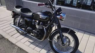 9. 2007 Triumph Bonneville - Black
