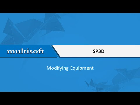 Modifying Equipment in SP3D Training