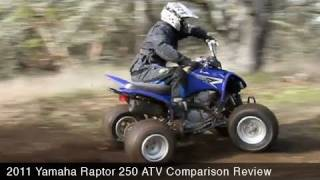 6. MotoUSA 2011 Yamaha Raptor 250 Comparison Review