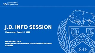 Webinar Wednesdays - J.D. Information Session with Laurel Root, Manager of Recruitment and International Enrollment Services at the University at Buffalo School of Law.