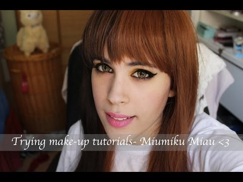 Trying Make-up tutorials: Miumiku Miau- maquillaje para chicas morenas y rubias.