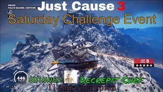 Just Cause 3 Challenge Video rules:Copy any challenge as long as you change it so it's not the same.Post as many challenges on the same challenge video as you want but always make a new comment do not post on replies or use capsWhen posting a challenge keep it to one comment on one video. Do not spam on other videos, or use exclamation points or emoji.Do not change your comment once I accept it.Challenges should be posted before 9:00 AM on Thursday to be candidates for the following week's Challenge videos.Friday Viewer Challenges comes out Friday 7:00 amFriday Featured Viewer Challenge comes out Friday 9:00 pmSaturday Challenge Event comes out Saturday 9:00 pmall times are (MDT)---All Music used in this video provided by NoCopyrightSoundsintro Paul Flint - Sock it to them [NCS] ReleaseElektronomia - The Other Side [NCS Release]NIVIRO - You [NCS Release]Phantom Sage - Our Lives Past (feat. Emily Stiles) [NCS Release]Rogers & Dean - No Doubt [NCS Release]Music provided by NoCopyrightSounds---want to see some cool Game GIF https://gfycat.com/@charleytank---Nanos channel (Show your support by checking out their channel):https://www.youtube.com/channel/UC13x8ujr2JictFvUFITYyMA---Nanos Development blogs for the Multiplayer can also be found here:https://community.nanos.io/---Check out Gaveroid on YouTube https://www.youtube.com/user/gaveroid418 I also play on his JC3MP server http://discord.gaveroid.com come join the fun---Game Servers--------Gaveroid's JC2MP Server - jc-mp.gaveroid.com--------Gaveroid's JC3MP Server - jc3mp.gaveroid.com--------Gaveroid's Garry's Mod DarkRP Server - gmod.gaveroid.com--------Gaveroid's TeamSpeak 3 Server - teamspeak.gaveroid.com--------Gaveroid's CSGO Server - (find in server browser, search Gaveroid)---Protato (An awesome Just Cause 3 Modder!):https://www.youtube.com/user/Eonzenx---Check out Decrepit Chef on YouTubehttps://www.youtube.com/user/jasarmj7---You Do not have permission to copy any portion of any of my videos to use on your ch
