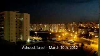 Ashdod Israel  city images : Grad Missile Attack On Ashdod Israel From Gaza