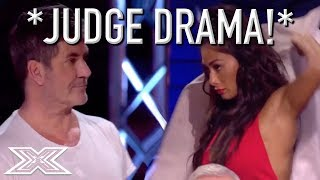 Video JUDGE STORMS OFF STAGE After Argument With Simon Cowell! MP3, 3GP, MP4, WEBM, AVI, FLV September 2018