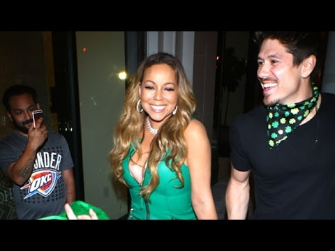 Mariah Carey Dons Green For St Patrick's Day At Catch