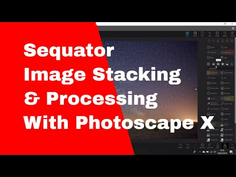 Sequator Image Stacking and Processing with Photoscape X (Astrophotography)