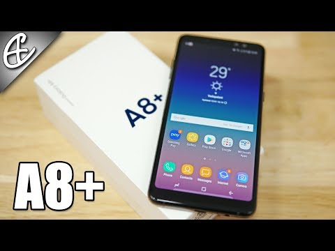 Samsung Galaxy A8 Plus | A8+ (2018) (Dual Selfie Cam | Infinity Display) - Unboxing & Benchmarks!