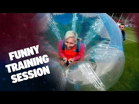 FC Barcelona - Bubble Football At St. Georges Park