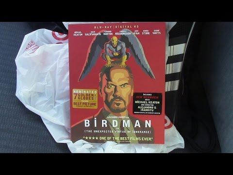 Birdman Blu-Ray Review/Unboxing (HD)
