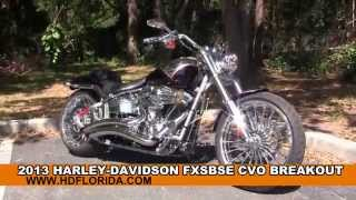 8. Used 2013 Harley Davidson CVO Breakout Motorcycles for sale