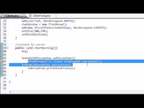 Intermediate Java Tutorial – 51 – Setting Up the Client for Chatting