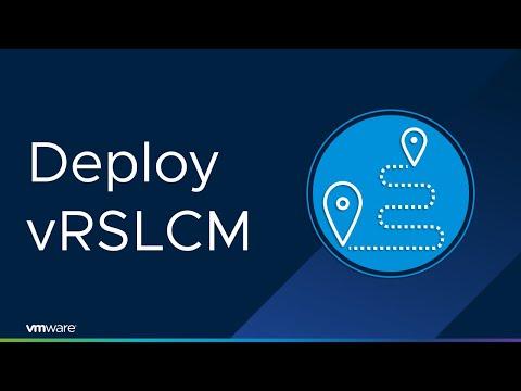 vCloud Automation University 8.x: Deploy vRealize Suite Lifecycle Manager