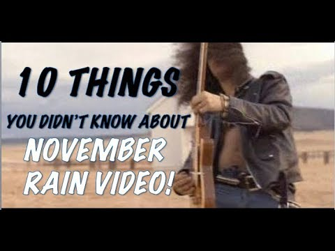 Guns N' Roses: 10 Things You Didn't Know About The November Rain Music Video!