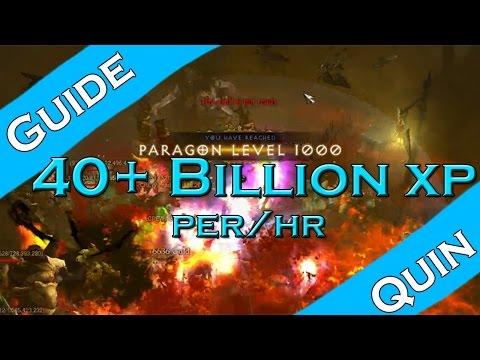 Diablo 3: Fastest way level your paragon (40-50b XP an hour)