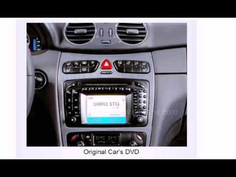 Mercedes benz w209 2004 in dash navigation system with for Mercedes benz stereo upgrade