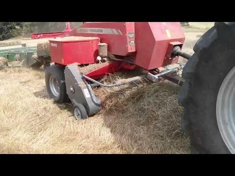 Massey Ferguson 1840 baling hay (видео)