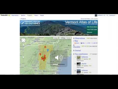 Vermont Atlas of Life: Tracking Species Reported in Vermont Towns