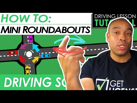 Mini Roundabouts Explained and Demonstrated   Driving Tutorial