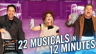 Video 22 Musicals In 12 Minutes w/ Lin Manuel Miranda & Emily Blunt MP3, 3GP, MP4, WEBM, AVI, FLV Maret 2019