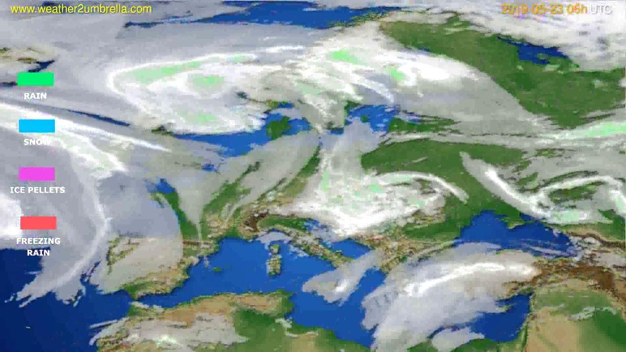 Precipitation forecast Europe // modelrun: 00h UTC 2019-05-21