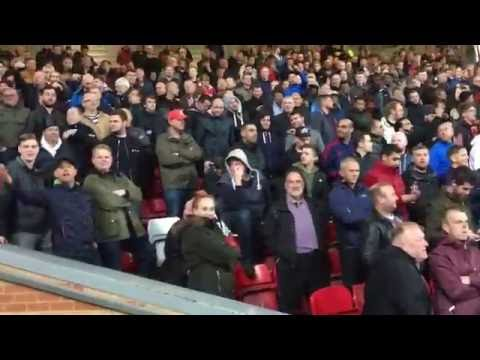 Liverpool-Man United, Anfield, 10-17-16, You'll Never Walk Alone, Manchester United Fans