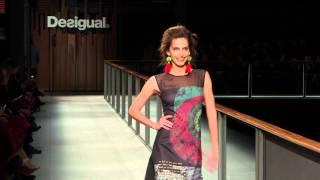 Desigual Barcelona Fashion Week Show Autumn Winter'14 With Irina Shayk