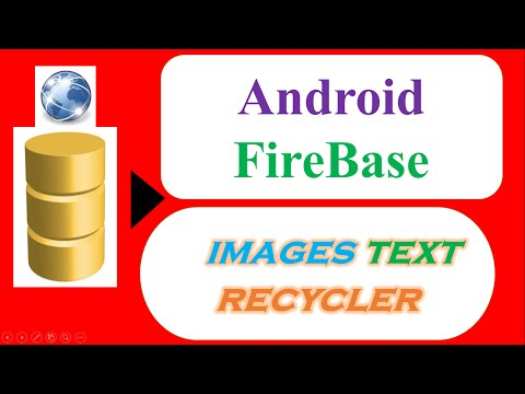 Android Firebase RecyclerView – With Images and Text