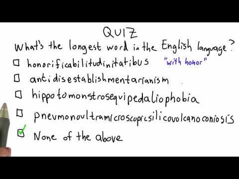 Lösungen für lange Wörter - CS101 - Udacity