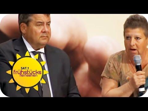 PUTZFRAU  vs. VIZEKANZLER Sigmar Gabriel | SAT.1 Frühstücksfernsehen