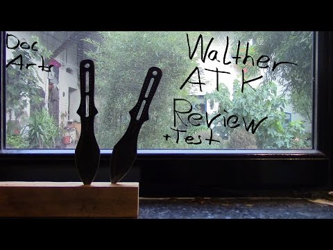 Walther ATK AdvancedThrowingKnife Wurfmesser SET Review mit test am ende