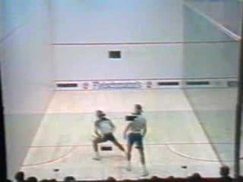 Jahangir Khan vs Talbott final squash hard ball part 2