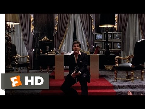 Tony Montana - Scarface Movie Clip - watch all clips http://j.mp/yFtoj3 click to subscribe http://j.mp/sNDUs5 Tony (Al Pacino) makes his last bloody stand against a well-ar...