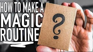 LEARN A TRICK I CREATED HERE: https://sellfy.com/p/OiqQ/THE BEST ROYALTY FREE MUSIC FOR YOUTUBERS!!: https://goo.gl/IZraELYO! Today I'm going to give you a few of my tips in order to build a magic routine. Many beginner and amateur magicians often have a hard time stringing together magic tricks or effects to create a perfect and entertaining routine. With these tips, you should have a good sense of what you need to look for when putting your magic together. ENJOY! also... Secret link below.SECRET LINK: http://amzn.to/2sH9gR1CHECK OUT MY GAMING CHANNEL: https://www.youtube.com/channel/UCxR3TcpkooMIllA2b83kGAQ/featuredWhat I shoot with:My Main Camera: http://amzn.to/2l20aJsMain Lens: http://amzn.to/2lzpIeBMy Favorite LENS: http://amzn.to/2kQAJZmVLOG CAMERA :  http://amzn.to/2kQQwqKThe Mic I use: http://amzn.to/2kB3QBnLighting: http://amzn.to/2m16e3tEditing: Final Cut // Color FinaleFollow Me:Instagram: https://www.instagram.com/chrisramsay52Facebook: https://www.Facebook.com/deceivingisbelievingTwitter: https://www.twitter.com/chrisramsay52Website: https://www.chris-ramsay.comIF YOU WANT TO SEND ME STUFF:Chris RamsayCP 50011 BP. Galeries Des MontsSt-Sauveur, PQCanadaJ0R 1R0