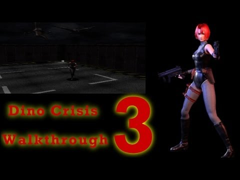 Dino Crisis HD Walkthrough PS1 Part 3 - Pteranodon attack! Crane Puzzle! Survival horror Chaos!