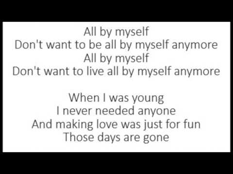 All By Myself - Eric Carmen (Lyrics)